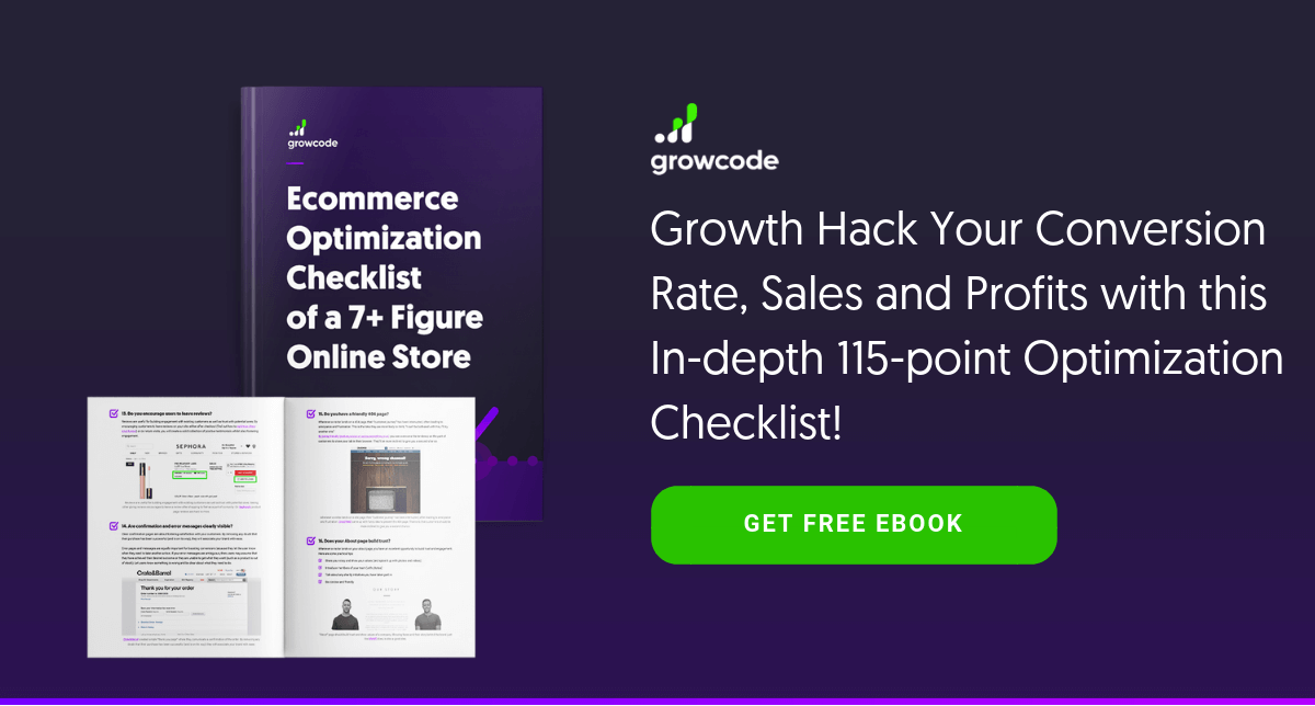 ecommerce optimization checklist ebook