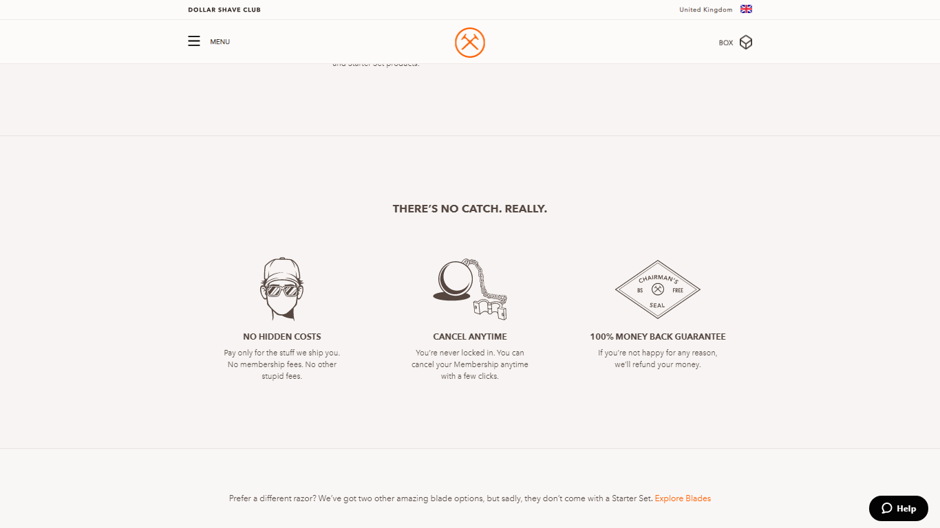 dollar shave club product page template
