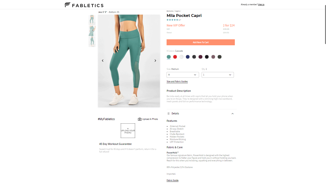 fabletics product page template