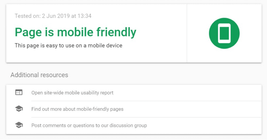 Check your website with >Google Mobile Friendly tool