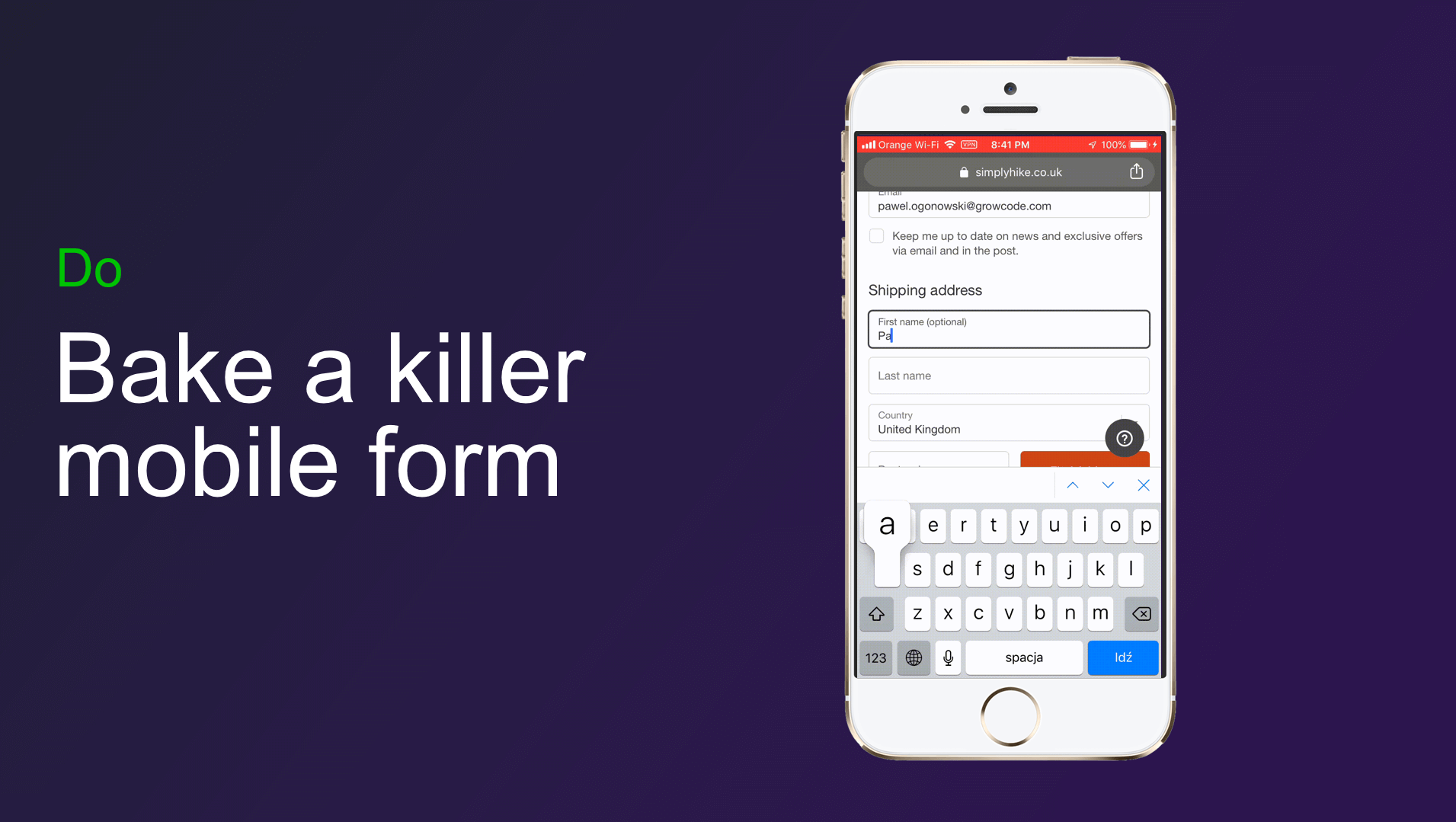 killer mobile form