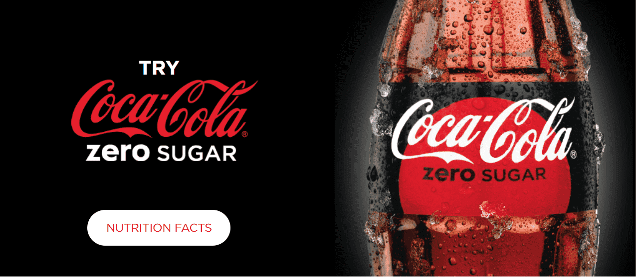 Banner on CocaCola US website