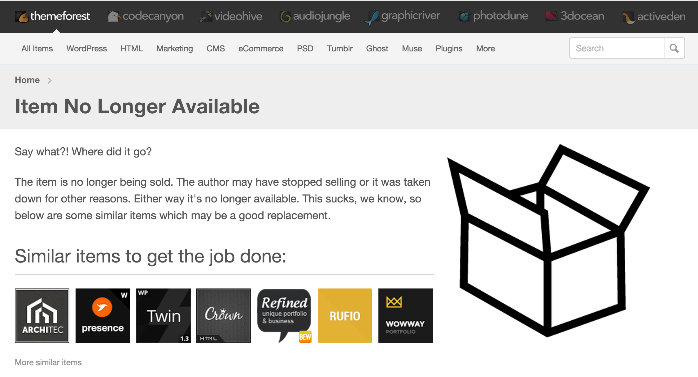 Envato has a great approach to discontinued products