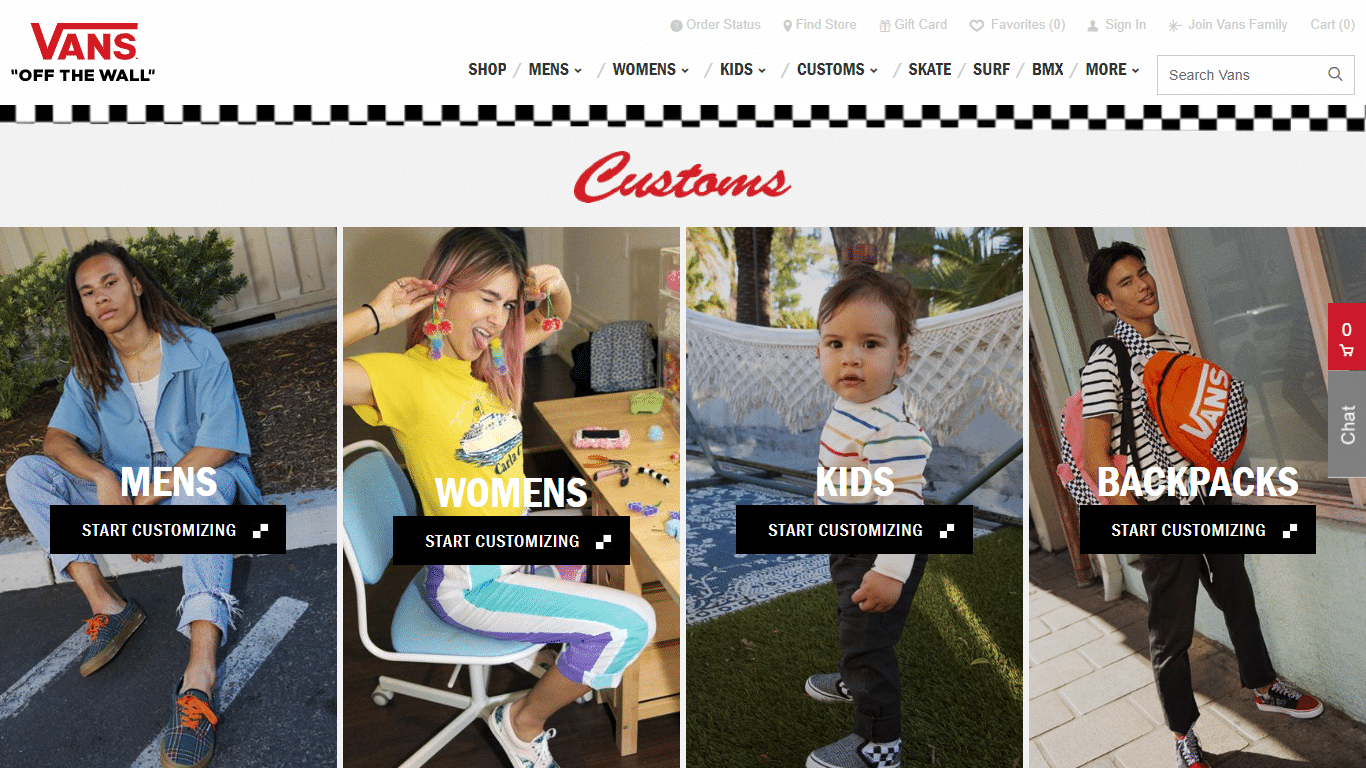Vans lets customers personalize products