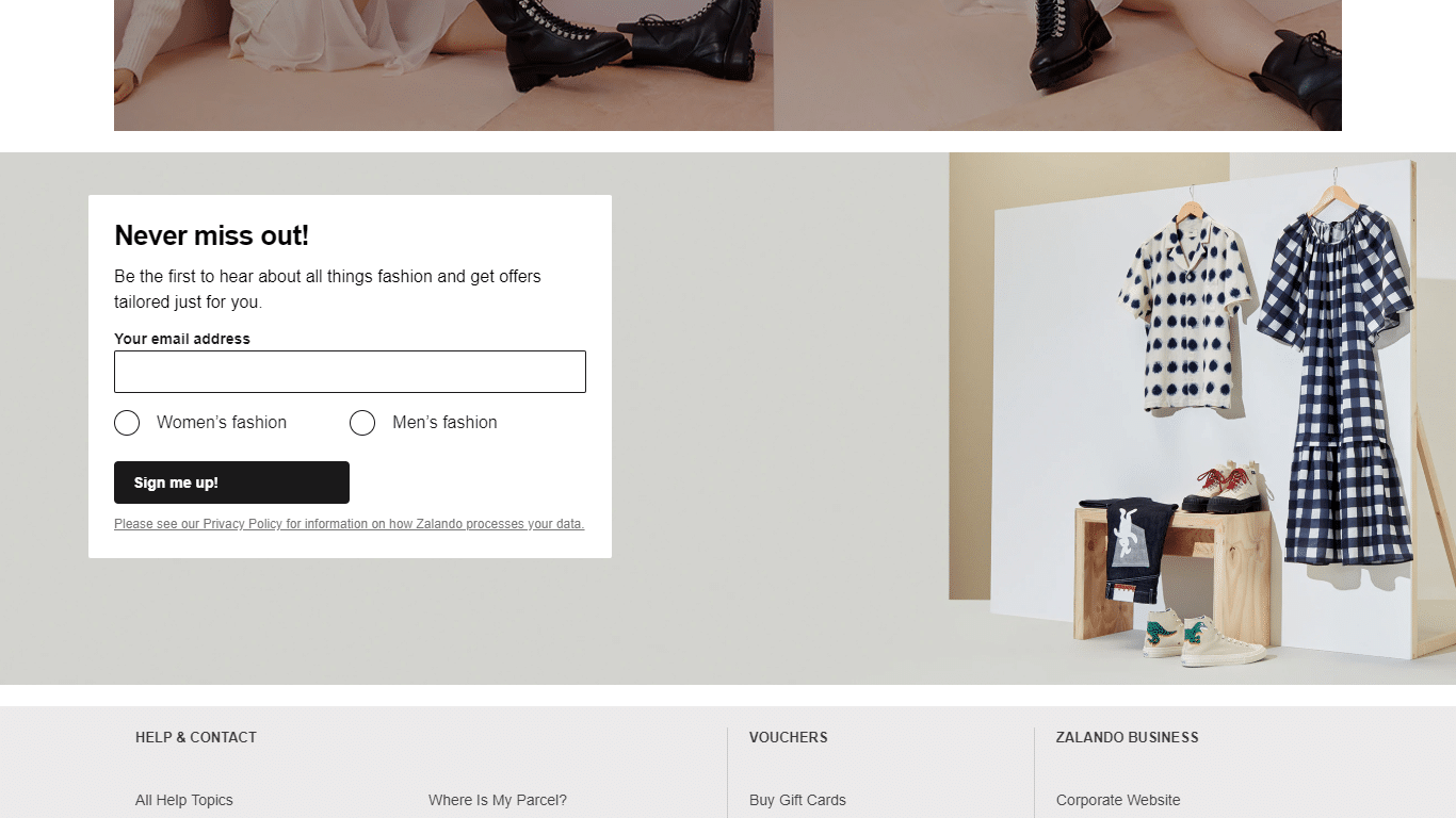 Zalando lets customers set their marketing preferences