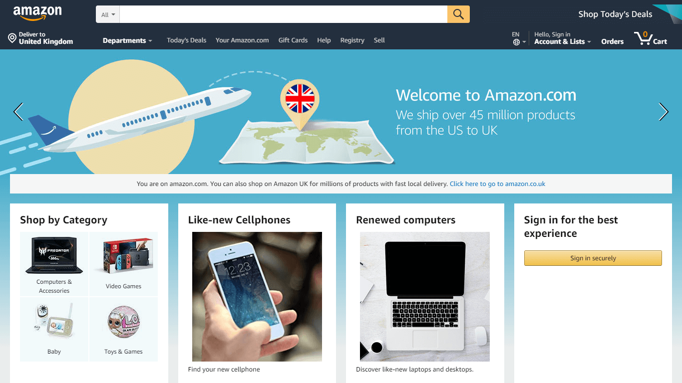 Amazon and their famous layout