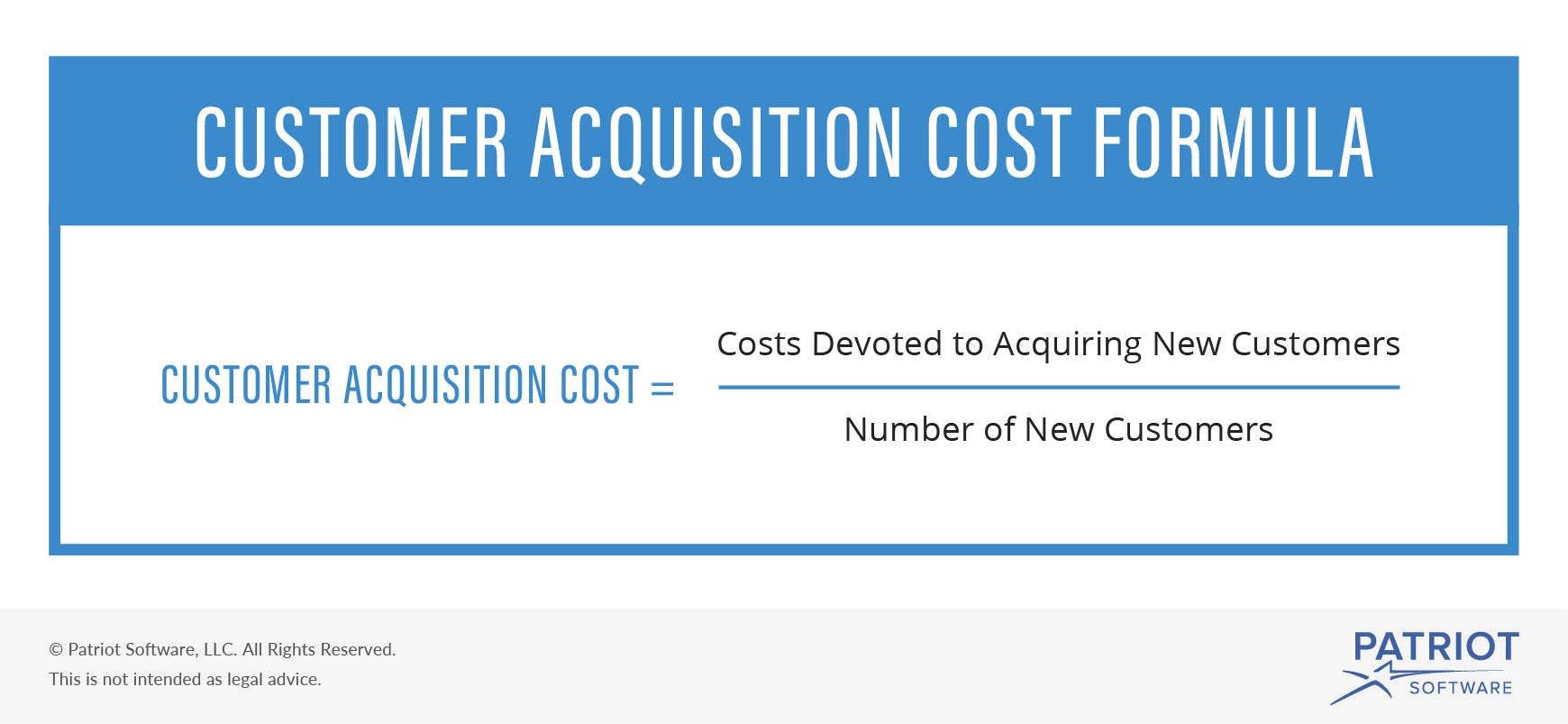 Customer acquisition cost formula