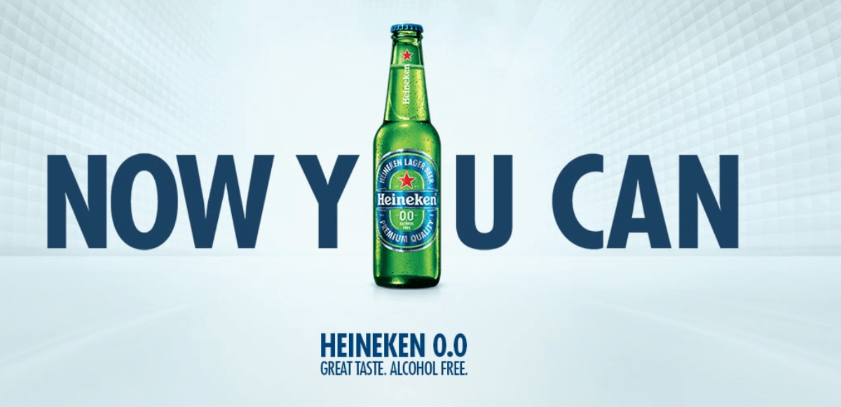 Heineken created a short headline on their landing page