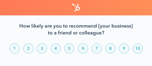Customer feedback form by Hubspot