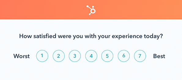customer satisfaction form by Hubspot