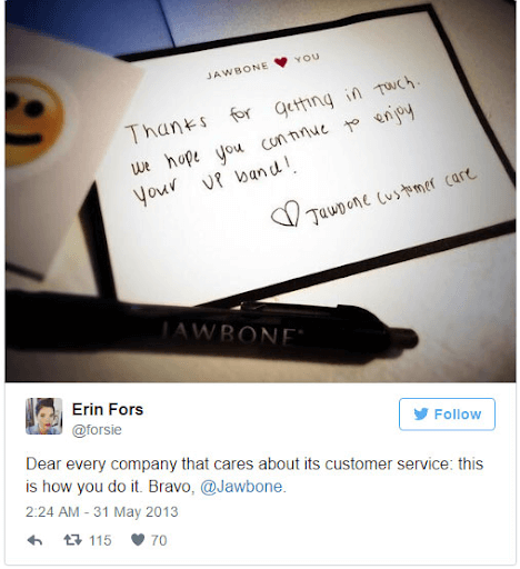 Personalization in action: a handwritten letter