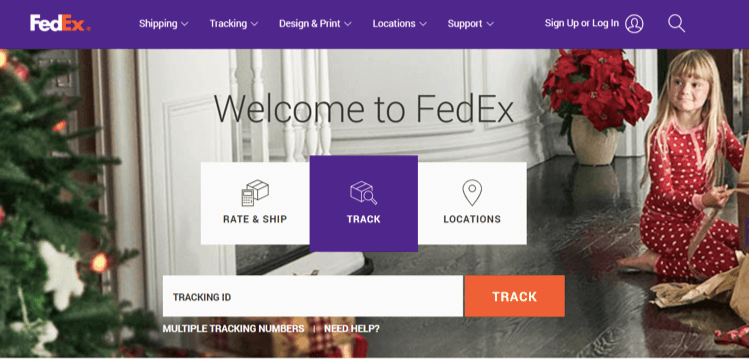 FedEx enables you to follow your package at any time