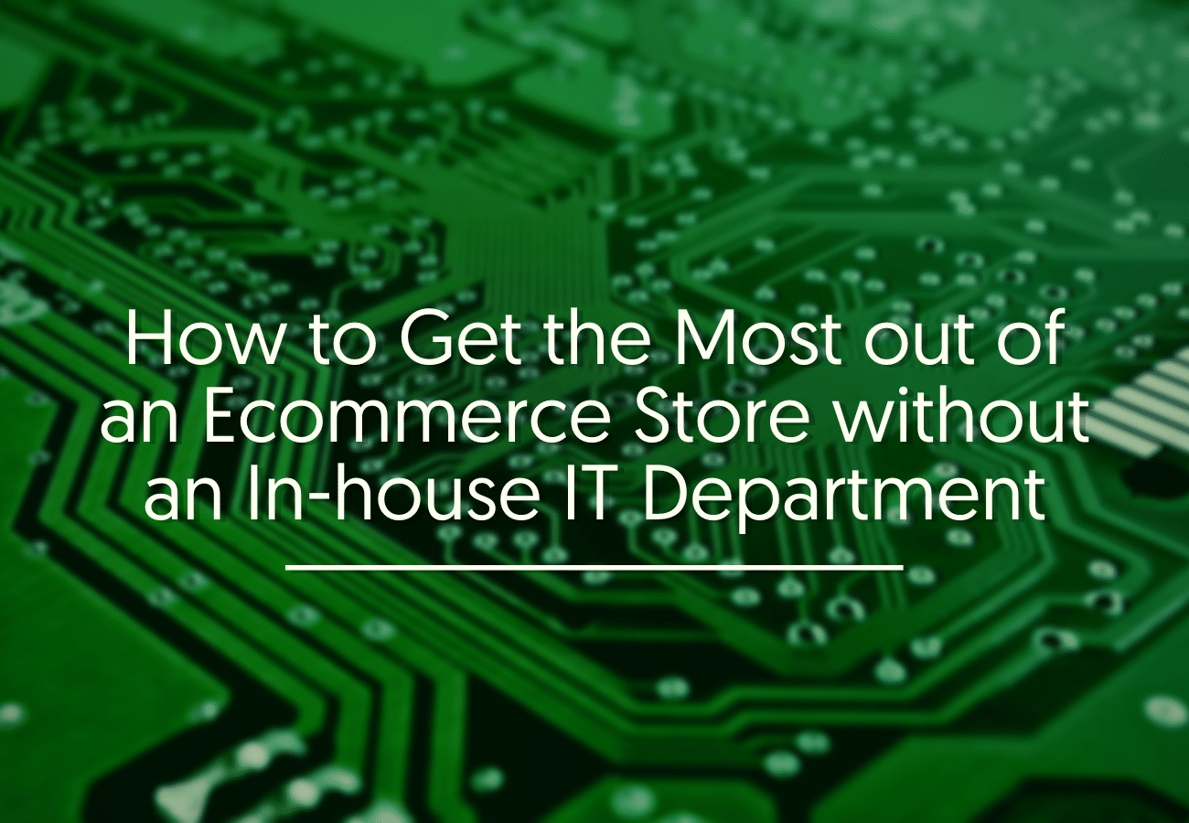 How to Get the Most out of an Ecommerce Store without an In-house IT Department