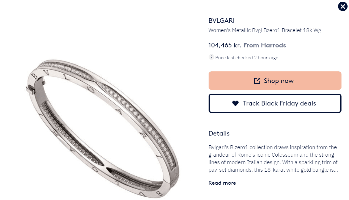 Correct product title by BVLGARI